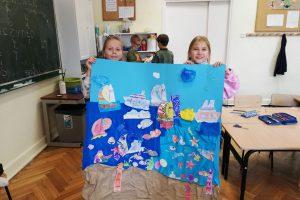 Plakat wykonany przez uczniów.